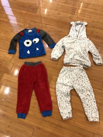 Пижама флиз на 3-4 года тёплая