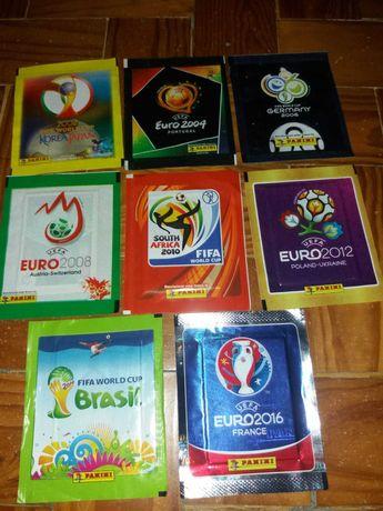 Saquetas e Cromos Europeus e Mundiais de Futebol (Panini)