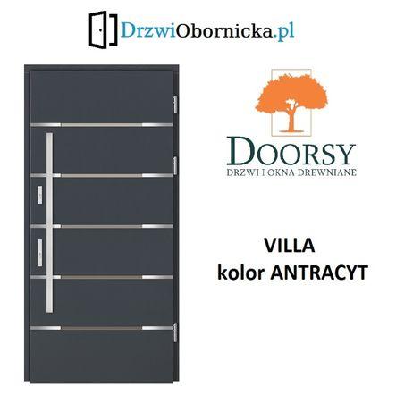 Drzwi DOORSY VILLA drewniane zewnętrzne wejściowe 100mm grubości