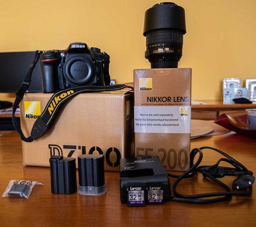 NIKON D7100 + AF-S DX VR Zoom - Nikkor 55-200 mm f/4 - 5.6 G  IF-ED