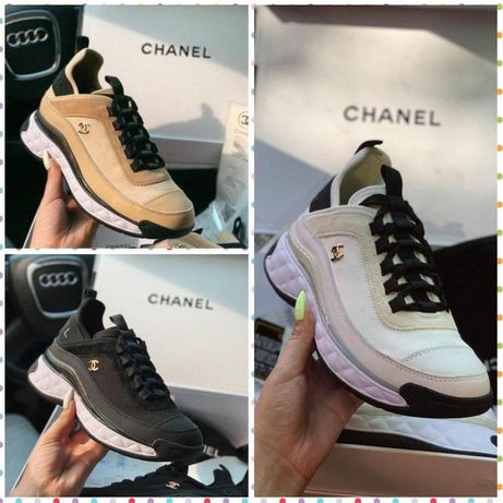∎ТОП∎ Кроссовки Chanel ∎ White∎ Beige∎ Black∎ ШОК ЦЕНА∎ Шанель