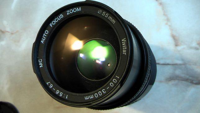 Объектив Vivitar AF 100-300mm на Sony А