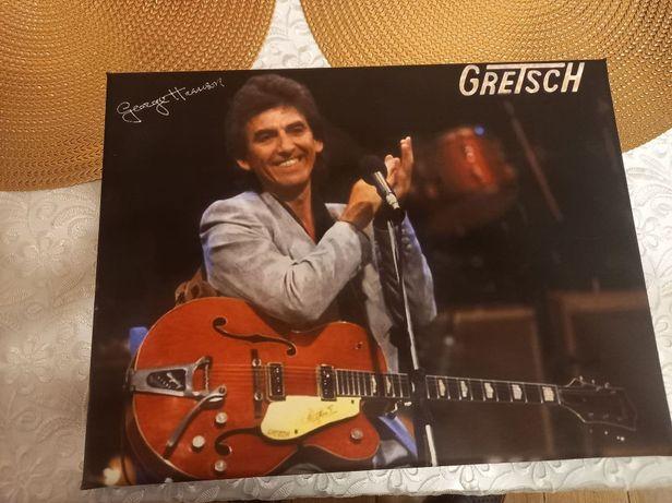 George Harrison-Gretsch dedykowany obraz na płótnie