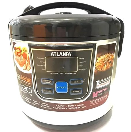 Мультиварка ATLANFA 6Л 900Вт 12 прогр скороварка пароварка рисоварка!