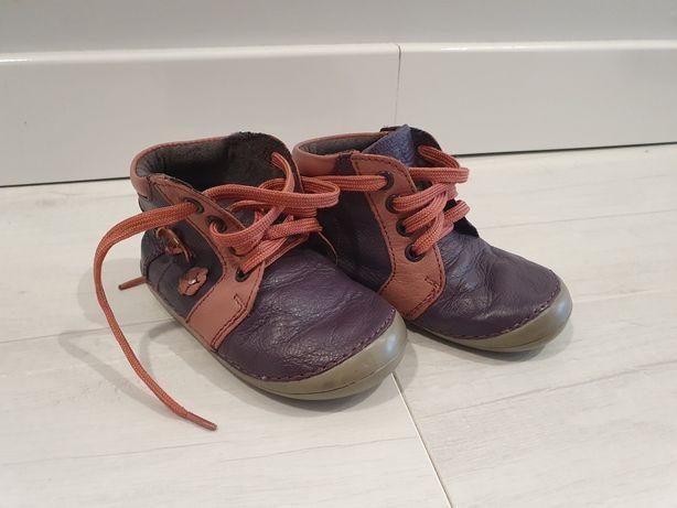 Skorzane buciki idealne do nauki chodzenia rozmiar 20