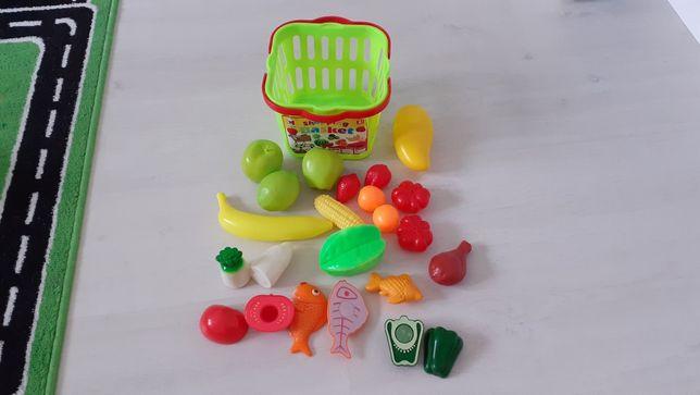 Zabawkowe owoce, warzywa na rzepy sklep koszyk