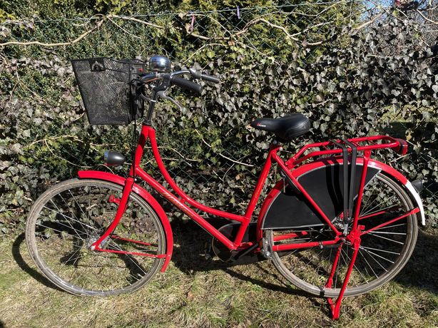 Rower holenderski 28 cali damski czerwony