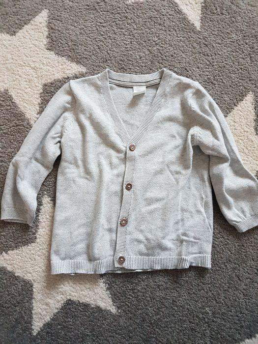 Szary sweterek kardigan H&M 9-12 miesięcy 80 cm Mielec - image 1