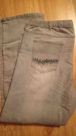 Spodnie siwe dzinsowe