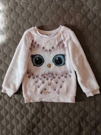 Тёплый свитер свитшот флиска для девочки на 2-4 года