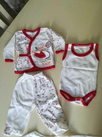 Набор для новорожденного бодик распашенка ползунки 50 Турция