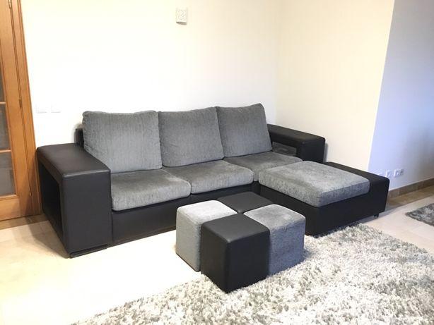 Sofá 3 lugares com chaise longue com 2,80m