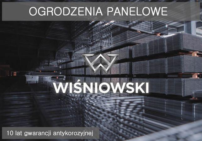 Panele ogrodzeniowe Wiśniowski 1530mm fi4 + podm25 Ogrodzenie panelowe