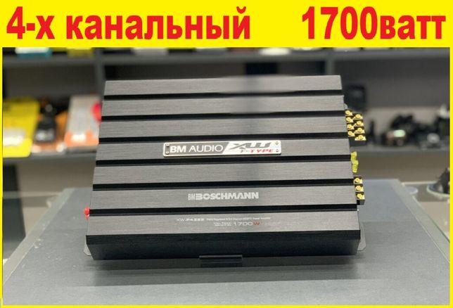 Автомобильный усилитель в атомобиль Boschmann 1700Вт 4-кан, Оригинал