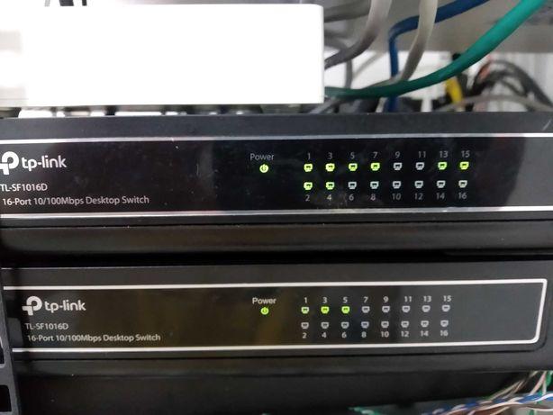 Коммутатор, 16 портов, tp-link TL-SF1016D, Свитч, Switch