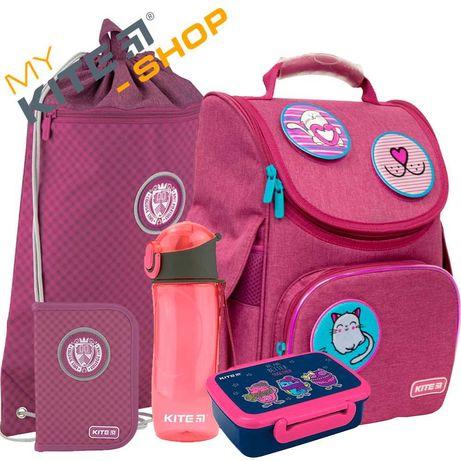 Школьный комплект 5в1 КАЙТ KITE Рюкзак сумка пенал для девочки с ЛЕД