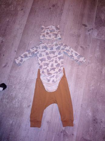 Komplet body spodnie h&m 68