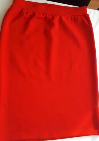 Spódnica ołówkowa, czerwona, Bodyflirt, rozm. 36/38
