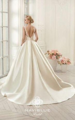 Свадебное платье NAVIBLUE BRIDAL размер 36 S со шлейфом