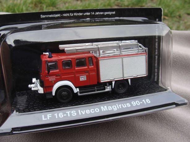 Wóz strażacki LF 16-TS Iveco Magirus 90-16 skala 1:72 model Deagostini