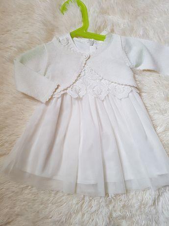 Sukienka z bolerkiem na chrzest
