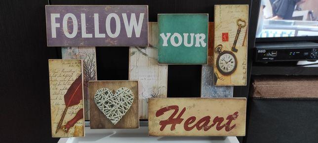 "Vendo quadro "" Follow your Heart """