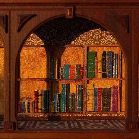 4  móveis para livrarias, bibliotecas para CASAS DE BONECAS