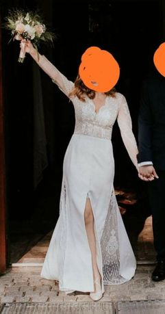 Zjawiskowa suknia ślubna o fasonie rybki rozmiar S