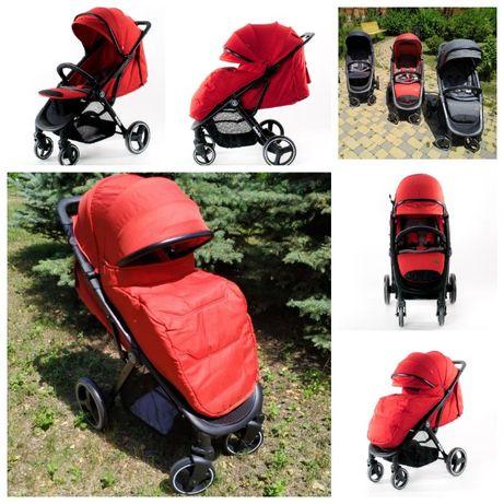 BabyZz B100 коляска книжка красная, Гарантия, Доставка Бесплатно