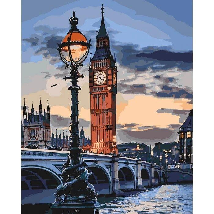 Картина по номерам 40х50 Городской пейзаж, любовь, Лондон, море Киев - изображение 1