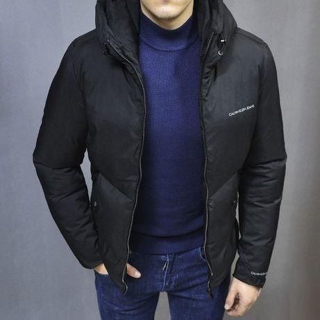 Мужская Куртка Calvin Klein осень-зима, куртка чёрная Calvin Klein