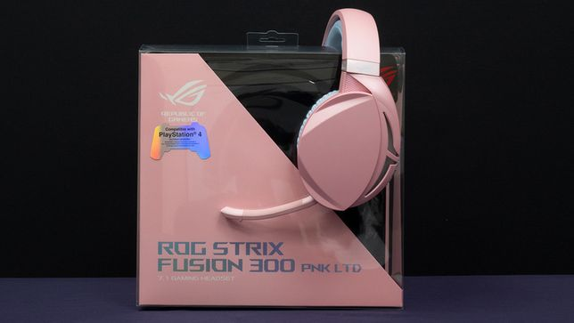 Asus Rog Strix Fusion 300 PNK różowe słuchawki okazja