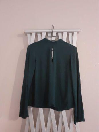 Bluzka H&M butelkowa zieleń r.38