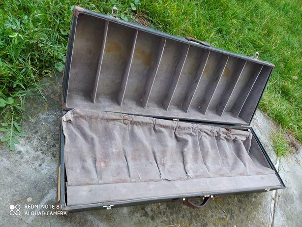 Przedwojenny kufer walizka na buty W&E Rommel