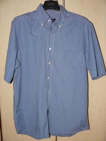 koszula hugo boss 40 niebieska krata krótki rękaw l xl m