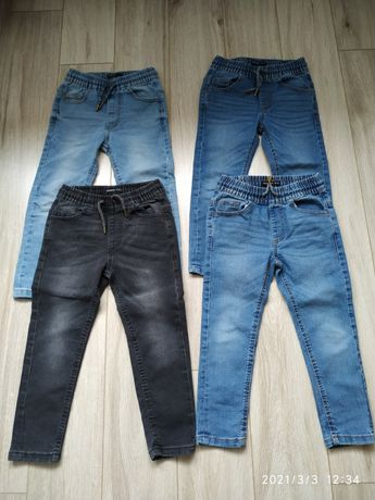 Komplet 5 par spodni dżinsowych Reserved 116