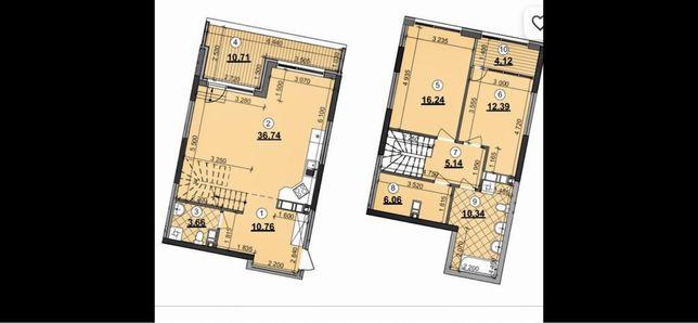 Двухуровневая квартира. ЖК Great 25-26 этаж. Дом 2.