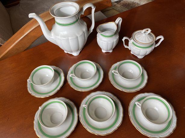 Zestaw kawowy porcelana Wałbrzych made in Poland PRL