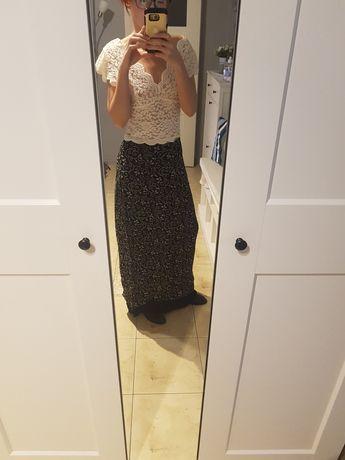 Dluga czarna spódnica