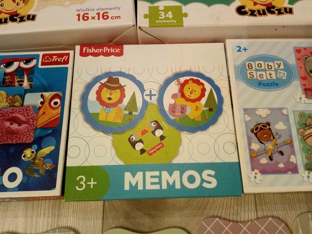 Memory Fisher-Price 3+ oraz puzzle misie trefl 2+
