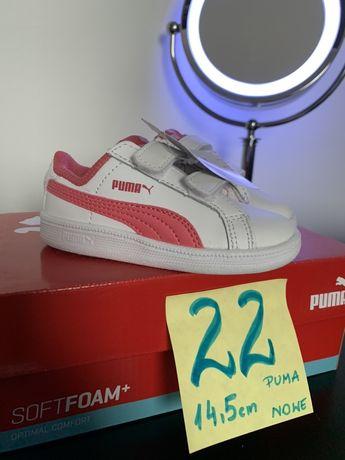 Buty Puma 22, nowe, skorzane 14,5 cm