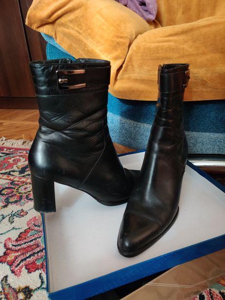 Кожаные сапоги димесезонные женские, размер 38