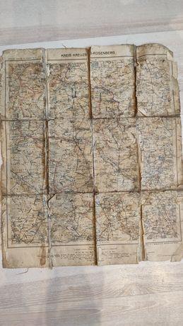 Mapa kreuzburg rossenberk kluczbork olesno
