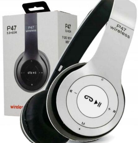 Sluchawki bezprzewodowe nauszne BLUETOOTH P47 mp3