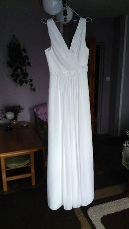 Suknia ślubna M, bolerko, welon