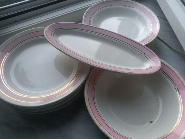 Тарілки глибокі і плоскі, салатниця(комплект)