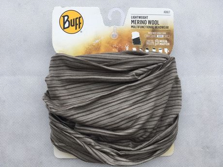 Buff Chusta Merino Wool WAL NUT BROWN STRIPES
