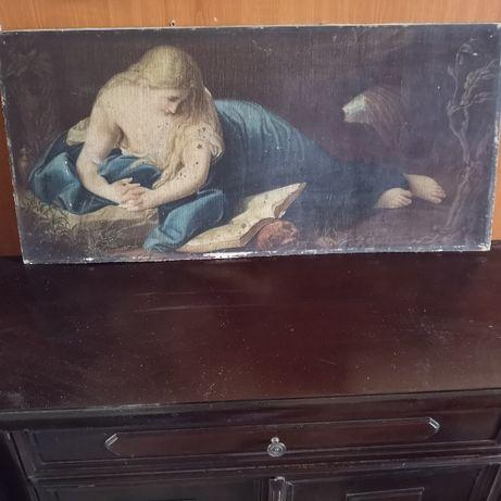 Obraz na desce Antyk sw Magdalena pokutująca.. Okres międzywojenny