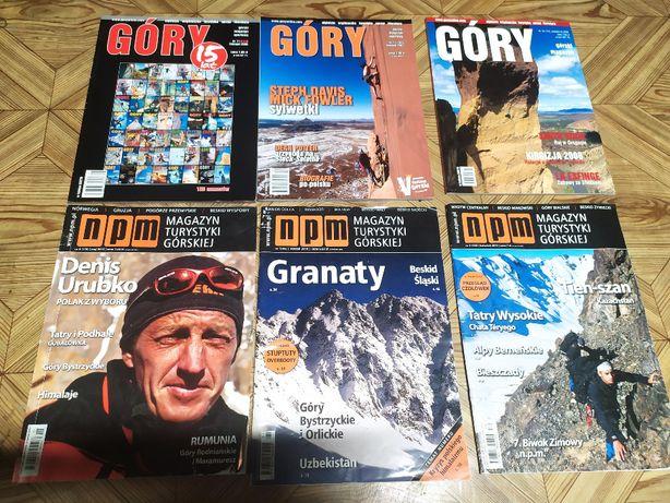 Góry, NPM - zestaw 6 gazet, czasopism w bdb stanie