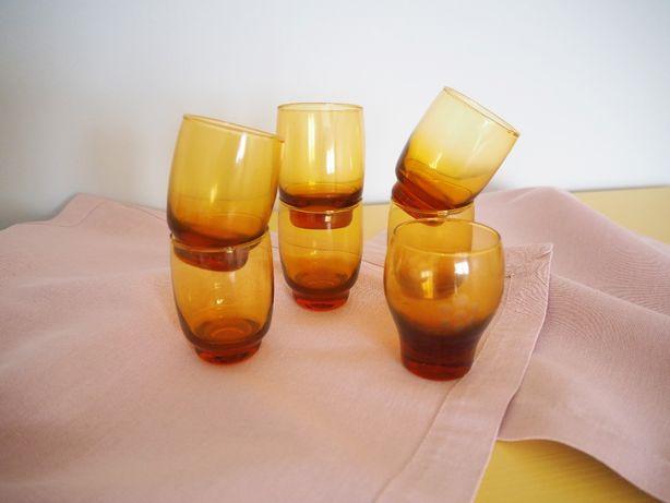Małe szklanki kieliszki PRL